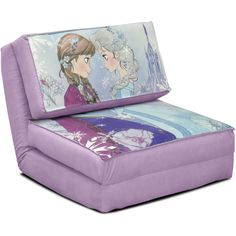 Disney Frozen anna and Elsa flip chair tween sofa kids room furniture home new girls bedroom bed seat chair easily converts into a bed product dimensions l x w x 50 x 29 53 x 23 00 inches Cozy Chair, Chair Bed, Bedroom Chair, Bedroom Decor, Sofa Bed, Swivel Chair, Chair Cushions, Master Bedroom, Disney Bedding