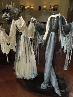 Nothing will have heads turning quite like our haunting Headless Dancing Couple as the centerpiece of your display.