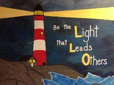 lighthouse Ocean Theme Decorations, School Decorations, Ocean Themes, School Themes, Math Classroom, Classroom Themes, Classroom Activities, Elementary Bulletin Boards, Elementary Schools