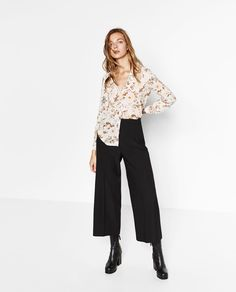 Image 1 of FLORAL PRINT BLOUSE from Zara