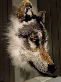 Mask # 4 (In Progress) A wolf mask made from pipecleaners!