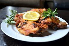 Crispy Greek Chicken with Garlic Sauce