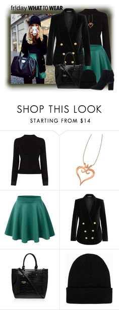 """What to Wear: Black Friday Shopping"" by elena-indolfi ❤ liked on Polyvore featuring Karen Millen, LE3NO, Balmain, Carvela Kurt Geiger, NLY Accessories and Topshop"