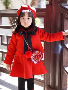 76a4e861bc2f Christmas Bow Red Baby Girl 2 Pieces Dress