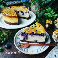 混ぜたら焼くだけ♪超絶濃厚ベイクドブルーベリーチーズケーキ♪ | しゃなママさんのお料理