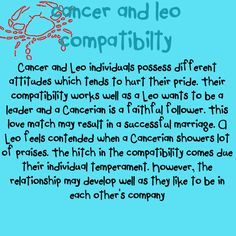 Cancer male and leo female compatibility