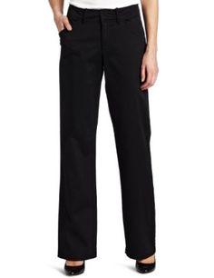 Lee Women's Petite Misses Comfort Fit Straight Leg Pant, Black, 14 Petite Lee. $25.32