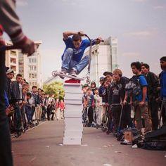 Cyrille Pouyaud à la Street Jam, photo de Nicolas Ballester #scootering