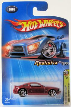 2005 Hot Wheels First Editions # 006 2005 Ford Mustang GT Red Black Interior