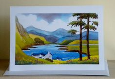 Hey, I found this really awesome Etsy listing at https://www.etsy.com/listing/201641930/art-card-snowdon-north-wales-from-an