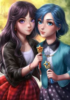 Sailor Mars and Mercury