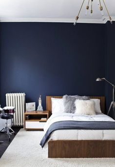 29 best dark blue feature wall images bedrooms house interiors rh pinterest com