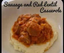 Recipe Sausage and Red Lentil Casserole by theroadtolovingmythermomix - Recipe of category Main dishes - meat