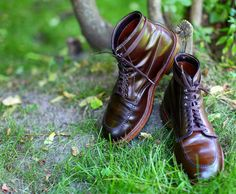 Alden 403 Indy boot - brown chromexcel with rubber commando sole