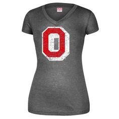 Ohio State Buckeyes Women's Logo V-Neck Tri-Blend T-Shirt - Gray - $23.99