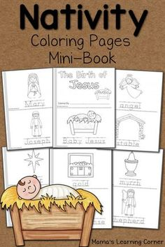 Nativity Coloring Pages Crafts For Kids, Arts And Crafts, Bullet Journal, Office Supplies, Children, Style, Toddlers, Swag, Boys