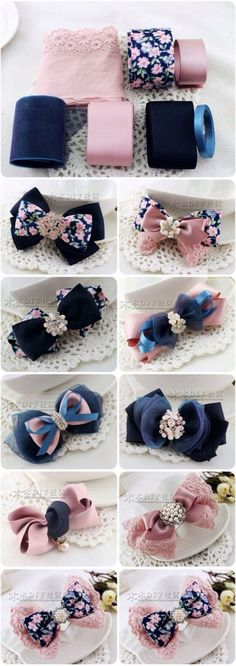 Discover thousands of images about cute DIY bow tutorial Ribbon Art, Diy Ribbon, Ribbon Crafts, Ribbon Bows, Ribbons, Diy Crafts, Diy Headband, Baby Headbands, Bow Tutorial