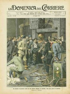 La Storia/History - Scrooge Mcduck, Working People, Caricature, Diving, Magazines, Cartoon, History, F1, Illustration
