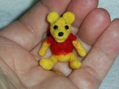 Tiny Teddy Bear needle felted