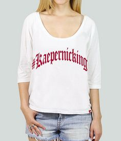 Women's Colin Kaepernick Shirt – Kaepernicking -- I don't dare buy one until a trip to the Super Bowl is locked in.
