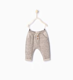 Plush trousers with small bow-Leggings & Trousers-Mini   0-12 months-KIDS   ZARA United States