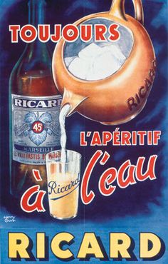 La Galerie Ricard Plus Vintage Advertising Posters, Old Advertisements, Print Advertising, Vintage Travel Posters, Guinness Advert, Old Posters, Pub Vintage, Old Pub, Old Commercials