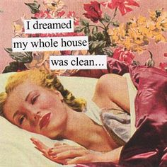 I dreamed my whole house was clean