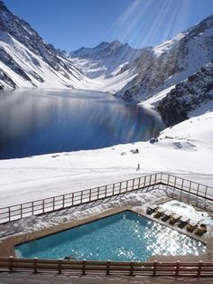 ** Top Summer Ski Spot: PORTILLO, CHILE / be daring and plunge in the glacier lake or swim in the heated pool. Just magical!
