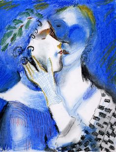 Marc Chagall, Lovers Kissing