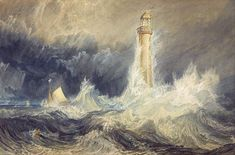 CLICK to see artworks that inspired oscar nominated Mr. Turner. The lighthouse here is a response to nature that human can withstand the challenges posed by it.  #art #lighthouse #nature