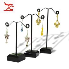Kit Of 3 Metail Acrylic Jewelry Display Hanger For Earrings Stand Holder Rack