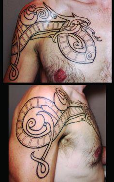 Jormungand - Pointillism by Jon Gamache of Trademark Tattoo, Sioux Falls, SD