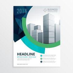 Bleu conception de modèle brochure flyer étonnant pour la présentation