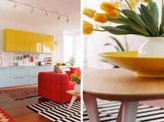 Casinha colorida: Home Tour: muitos móveis coloridos