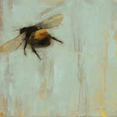 portermoto:  chestchest:  squaredoor:  Angie Renfo paintings of bees via the art room plant   (via magpiemouse)