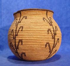 Indian Baskets - GB - CHEMEHUEVI - 'Chemehuevi Pictorial Olla; circa 1920' - Len Wood's Indian Territory