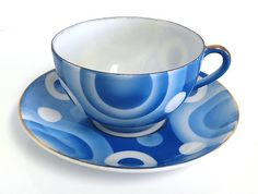 Art Deco cup and saucer, Japan, 1930s, eBay $9.99