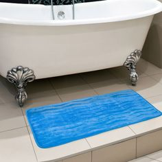 Lavish Home Memory Foam Extra Long Bath Rug Mat - 67-11-B