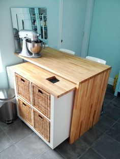 "How-to: A Nesting Kitchen Island IKEA ""Super"" Hack » Curbly 