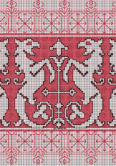 """working drawing for Assisi embroidery design """"panters"""""""