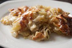 Kartoffel-Lauch-Gratin (fast vegan) #vegetarian #gratin
