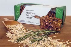Rosemary Raisin Raincoast Oat Crisps. Based on our oh-so-popular version with wheat and pecans, this oat crisp is crunchy and chewy at the same time! Pair it with a soft blue, a slice of salami or hummus for a perfect snack!