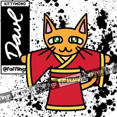 008 - KITTYMONO. The Kittymono are a tribe of enlightened feline beings. They enjoy meditation and games, but are in an eternal struggle for peace with the mischief-making Jerkats [073]. #fafflings #kittymono #kitty #kitten #cat #monster #creature #critter #animal #beastie #oc #originalcharacter #originalspecies #character #monsterart #monsterdrawing #art #creation #digital #drawing #digitaldrawing #illustration #cartoon #daverachelnevada