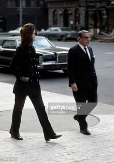Jackie Kennedy Onassis and Aristotle Onassis during Jackie Onassis & Ari Onassis Walking After Having Lunch at P. Clark's at P. Get premium, high resolution news photos at Getty Images