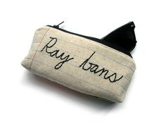 Ray bans Zipper Pouch Eyeglass Case Notebook by MontclairMade