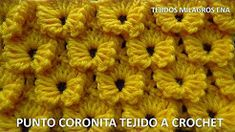 punto coronita tejido a crochet - YouTube
