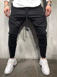 Fitness New Sports Cotton Casual Breathable Shorts – Chicmay Sweatpants Style, Joggers Outfit, Mens Sweatpants, Fleece Joggers, Cargo Pants Men, Sport Pants, Jogger Pants, Moto Jeans, Sport Casual