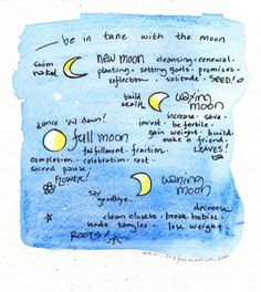 new moon magic – how to set intentions on the new moon – and a free printable! » The Artful Life