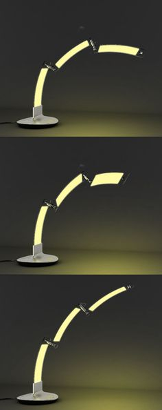 The simplistic Thunder lamp makes great use of cutting-edge OLED technology with its 3 swiveling, modular sections that provide fully flexible positioning for custom light coverage. Custom Lighting, Lighting Design, Spiral Shape, Thunder And Lightning, Small Candles, Yanko Design, Intelligent Design, Lighting Solutions, Burning Candle
