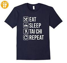 Tai Chi - Eat Sleep Repeat T-Shirt Herren, Größe XL Navy (*Partner-Link)